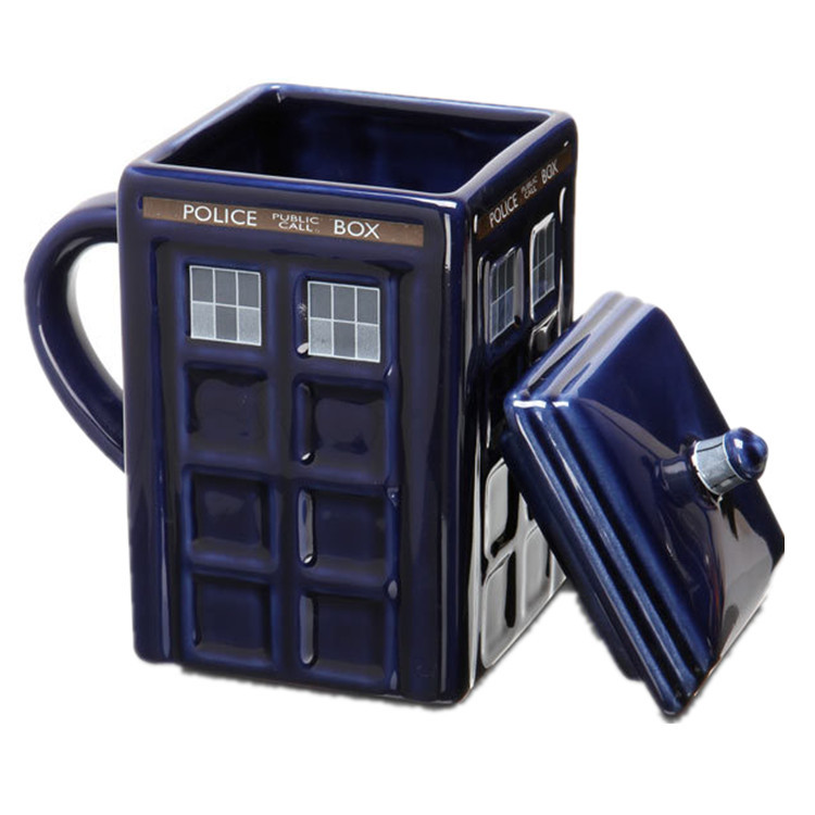 Doctor Who 17oz Tardis Mug Porcelain Police Pavilion Cup Milk Coffee Breakfast Office Gifts