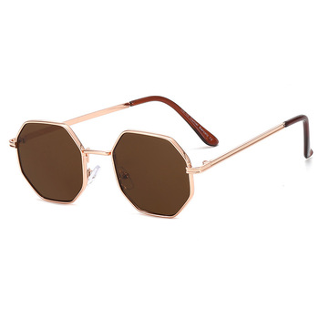 Higodoy Polygon Sunglasses Men Vintage Octagon Metal Sunglasses for Women Luxury Brand Goggle Sun Glasses Ladies Gafas De Sol 8