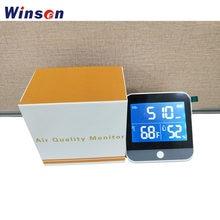 1pc przenośny wielofunkcyjny Tester Monitor jakości powietrza TVOC HCHO CO2 + miernik wilgotności PM2.5 miernik temperatury
