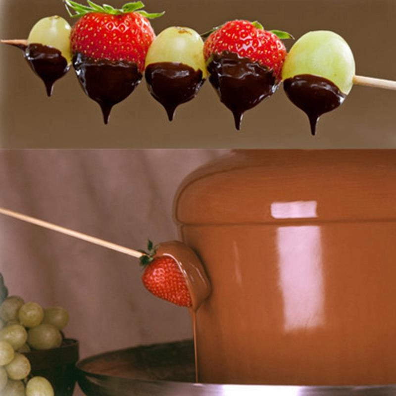 Mini Three Layers Chocolate Fountain Creative Chocolate Melt With Heating Fondue Machine Diy Melt Waterfall Pot