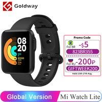Versión Global Xiaomi Mi Watch Lite Reloj inteligente con GPS pantalla TFT LCD de 1,4 pulgadas Monitor de ritmo cardíaco y sueño Bluetooth smartwatch