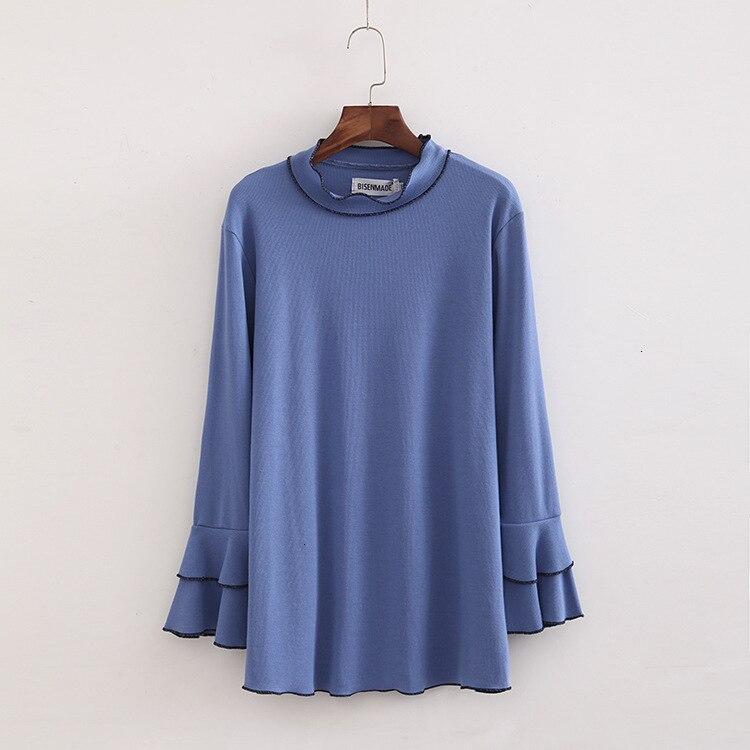T-shirt grande taille femmes Lent Long Mouw t-shirt femmes épais chemise femmes bureau handicapés femmes thé hauts