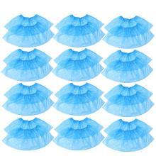 100pcs Disposable Plastic Shoe Covers Carpet Cleaning Overshoes Disposable Shoe Cover