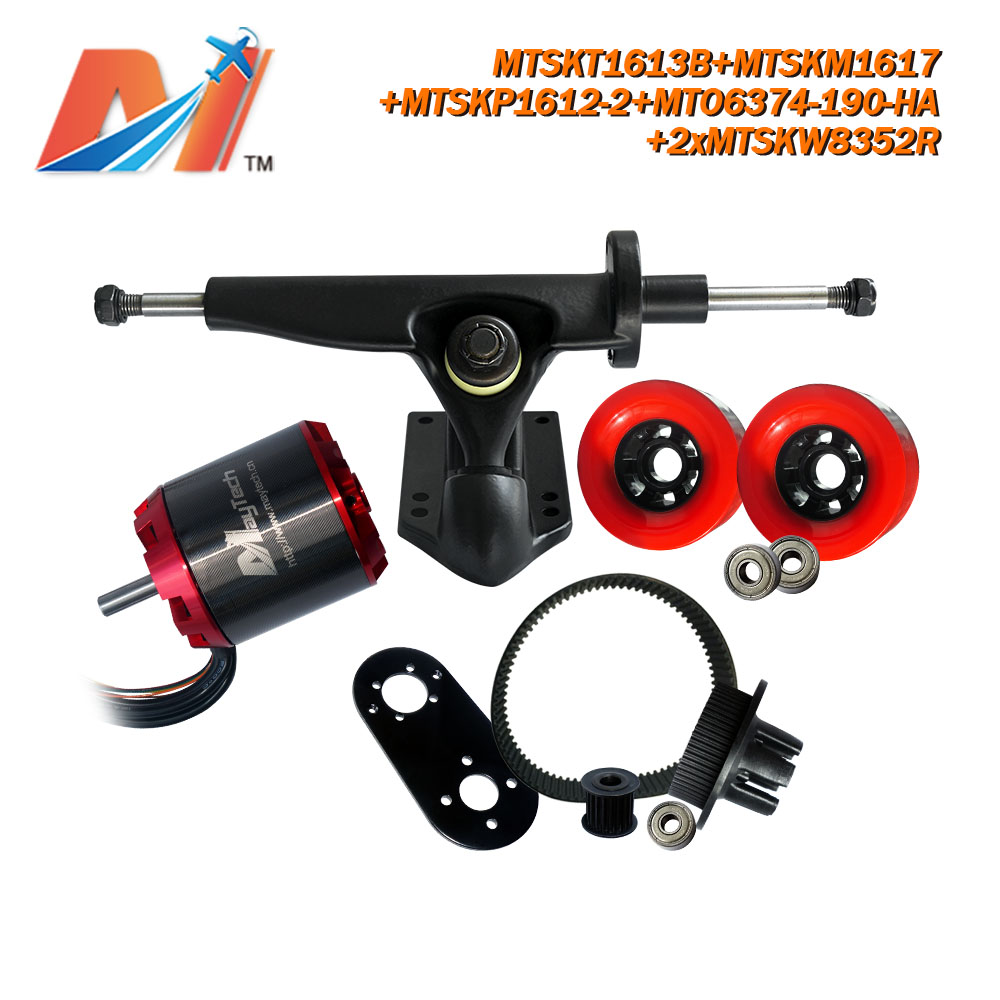 Maytech (6pcs) skateboard hardware <font><b>6374</b></font> <font><b>190KV</b></font> sensored engine <font><b>brushless</b></font> electric <font><b>motor</b></font> 48v 3000w combo image