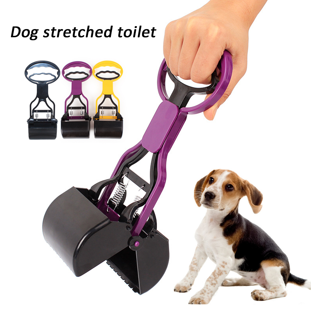 28cm Long Pet Pooper Scooper Long Handle Shovel Clean Pick Up Poop Scoop Animal Dog Puppy Cat Waste Picker Cleaning Tool Outdoor