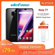 Ulefone Note 7T 4G Smartphone 2Gb Ram 16Gb Rom Android 10.0 6.1 ''Waterdrop Screen 3500mah 19:9 Quad Core Ulefone Mobiele Telefoon