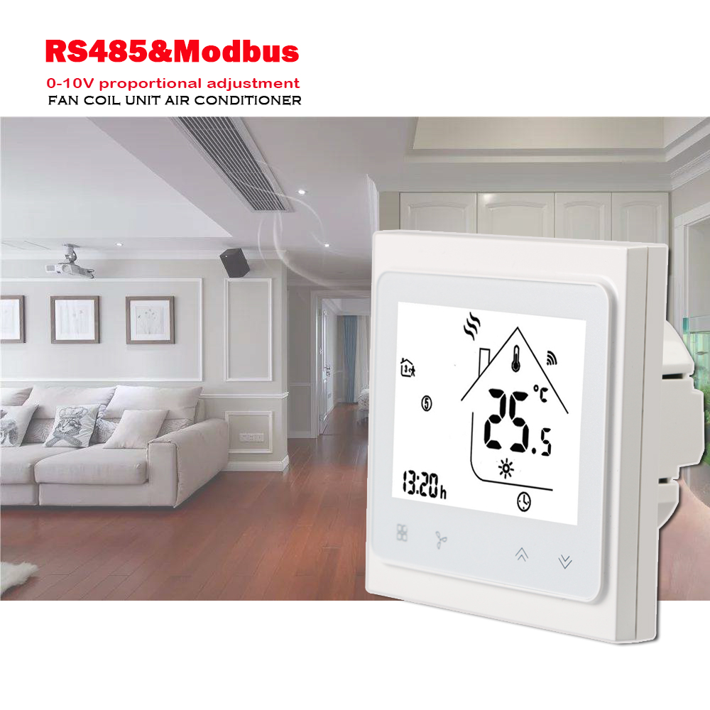 24VAC RS485&Modbus Application Programming Interface For Regulated 0-10V Proportional,2pipe 4pipe Air Conditioning Thermostat