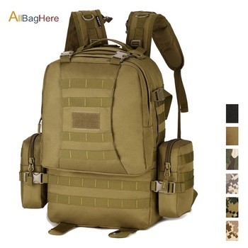 Tactical Combination Backpack Military Outdoor Camping Rucksack Travel Hiking Bag for Large Capacity Travel Hunting Backpack 50L