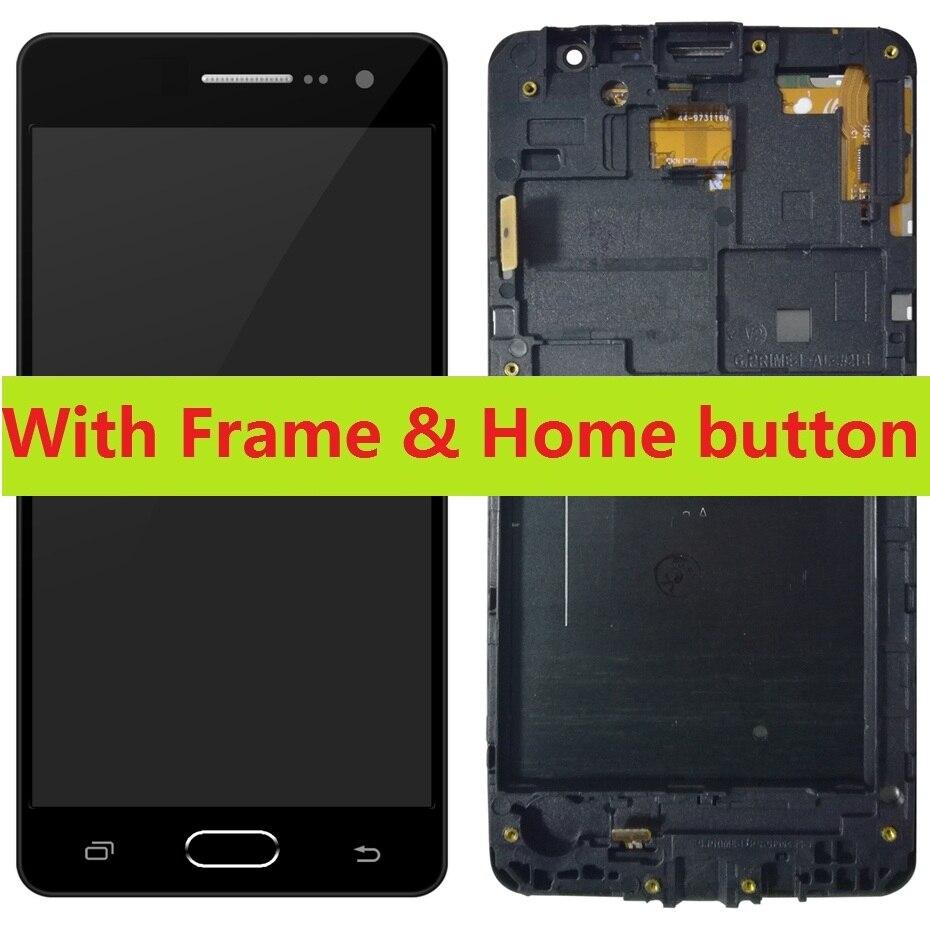 Für Samsung Galaxy Groß Prime SM-G531H G531H/DS G531F/DS G531F Touch Digitizer Sensor LCD Display Bildschirm Rahmen mit Home Button