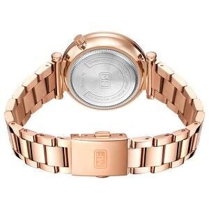 Image 3 - MINI odak kadın saatler marka lüks moda bayan izle 30M su geçirmez Reloj Mujer Relogio Feminino gül altın paslanmaz çelik