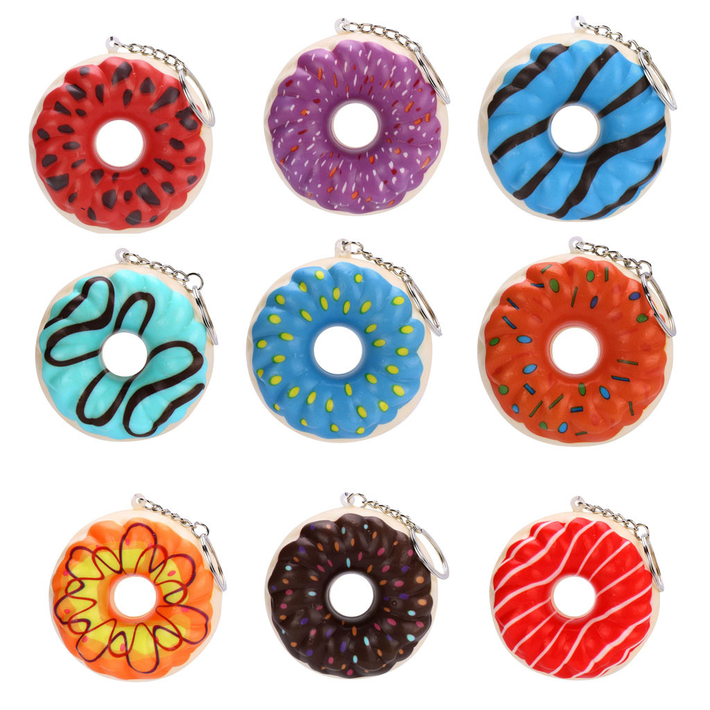 Donut Pendant Toy Slow Rebound Toy New With Chain Decorative Fun Cake Slow Rising Cream Scented Cute Collect Toy L103