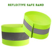 Cycling Safe-Band Warning-Belt Reflective Fluorescent Night-Running Green Strap Ankle