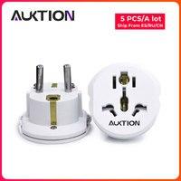 AUKTION 5Pcs/Lot 16A Universal EU(Europe) Power Plug Socket Adapter Converter Adapter 250V AC Travel Charger US UK AU|Chargers| |  -