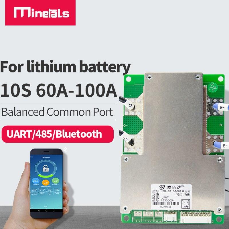 10S 36V litowo BMS 60a 80a 100a trójskładnikowy Bluetooth RS485 komunikować się z PC falownika przechowywane energii APP inteligentny BMS