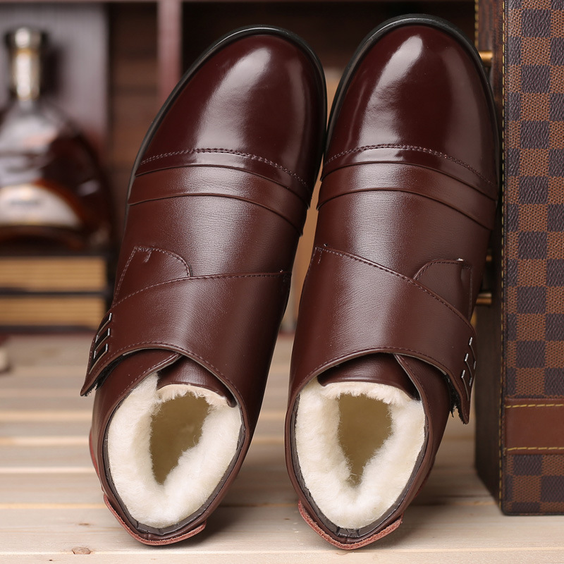 Winter Shoes Men Chelsea Boots Genuine Leather Warm Shoes Men Ankle Boots Fashion Brand Cow Leather Male Footwear 2020