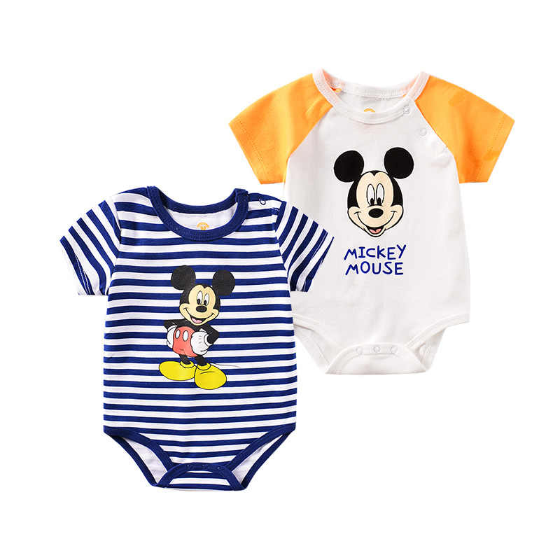 Newborn Baby Romper Disney Mickey Mouse Tops Long Pants Outfit Boy Girls Clothes