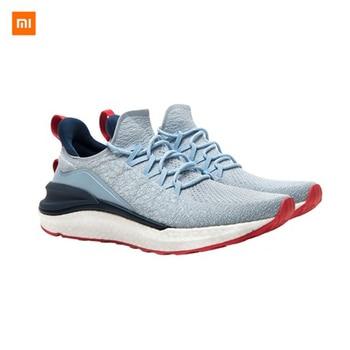 Zapatillas Xiaomi Mijia originales, 4 zapatillas deportivas para exteriores para hombre y mujer, sistema de bloqueo 3D de espina de pescado, zapatillas para correr tejidas para hombre