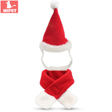 Christmas Costume For Pet Scarf Hat Dog Cat Clothes Winter Warm Fashion Cute Small Outfit Clothing Puppy Kitten Apparel