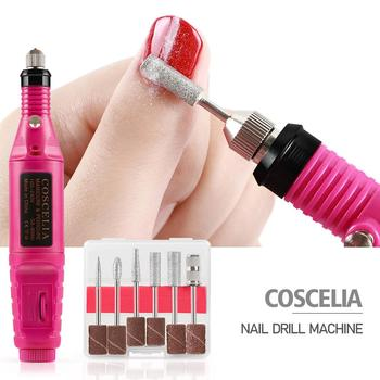1 Set 6 Bits Professional Electric Nail Drill Machine Nail Art Pen Pedicure Tools Milling Gel Polish Remover Manicure Cutters 1