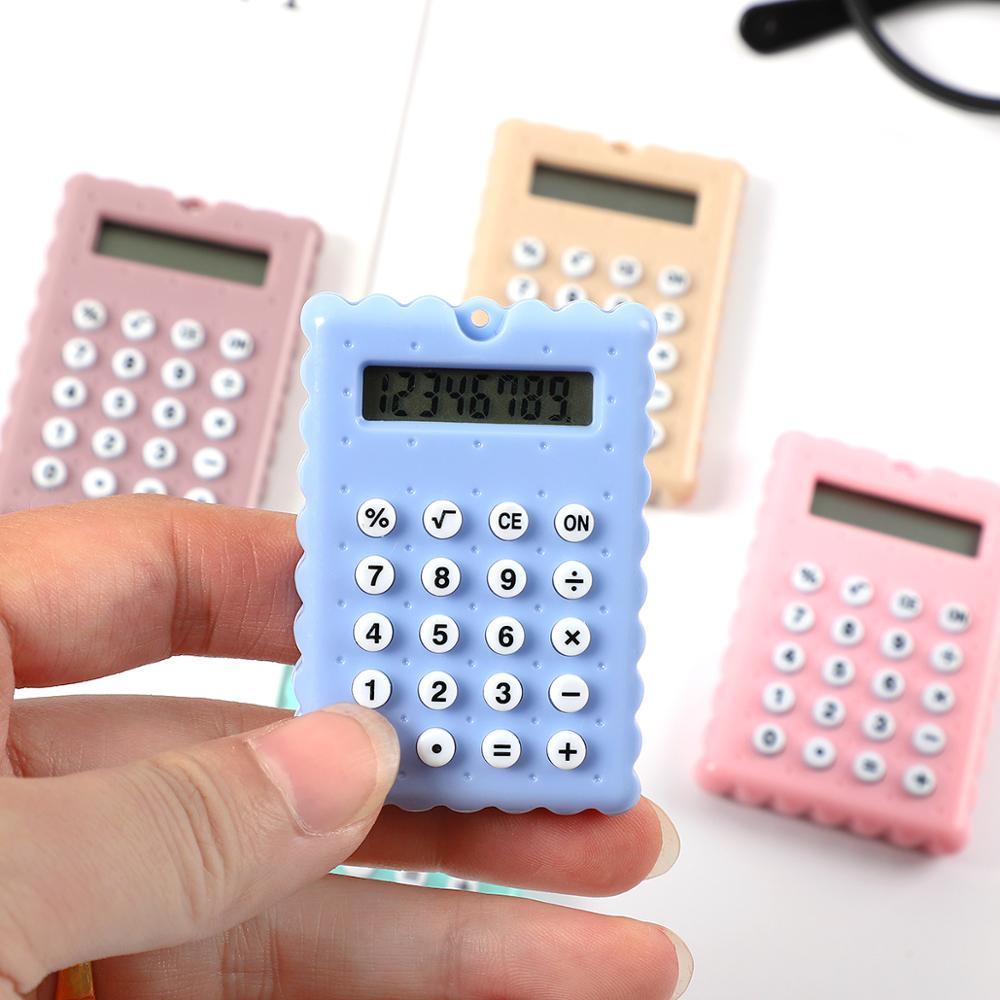 JIANWU Mini Creative Biscuits Calculator Candy Color Student Calculator Kawaii School Supplies