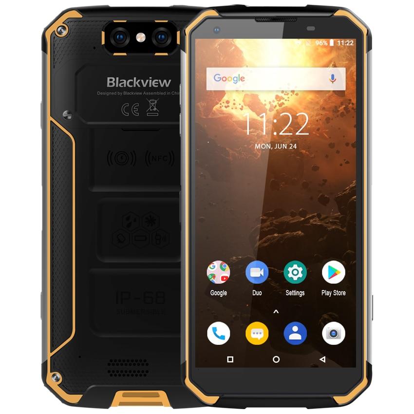 Blackview bv9500 plus 10000 mah android 9.0 4g áspero smartphone 4 gb + 64 gb helio p70 octa núcleo ip68 à prova de choque 5.7