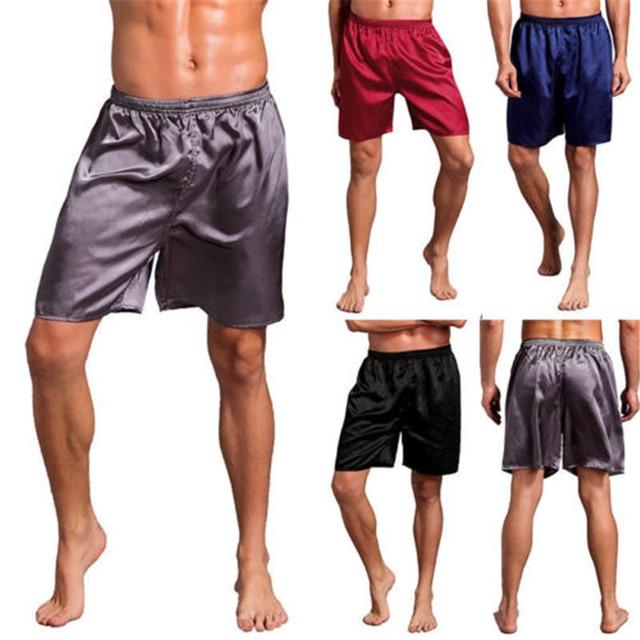 Men Silk Satin Pajamas Lounge Pants Sleep Bottoms Sleepwear Loose Clothing Comfortable Material
