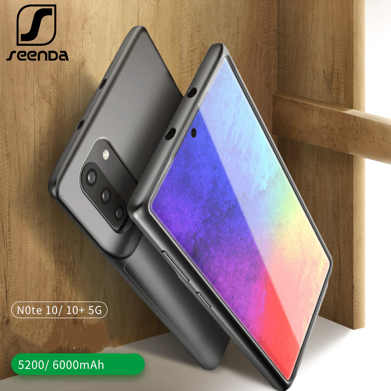 6000mAh Battery Case For Samsung Galaxy Note 10 Plus Soft TPU Charging Phone Power Cover For Samsung Note 10 Battery Case Thin
