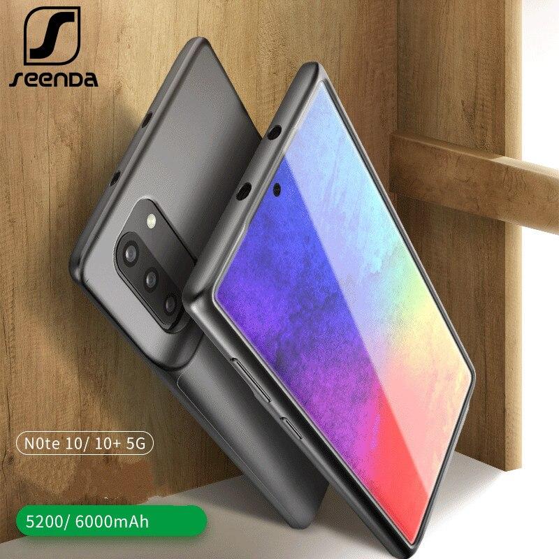 Funda de batería de 6000mAh para Samsung Galaxy Note 10 Plus funda de Energía Suave de TPU de carga para Samsung Note 10 funda de batería delgada