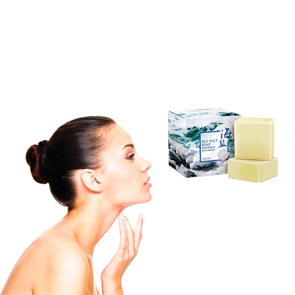 Rich Sheep Milk Sea Salt Soap Gloss Skin Whitening And Moisturizing Hand-made Solid Face Washing Milk To Prevent Acne