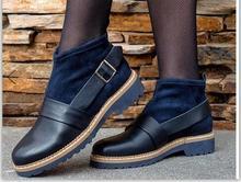 women ankle boots winter shoes woman low heels round toe vintage slip on booties WXZ117 цены онлайн