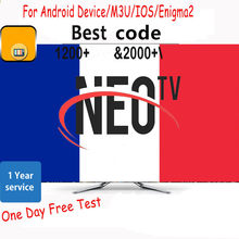 1 rok NEOTV PRO kod IPTV francja NEO TV PRO kod IPTV Susbcription M3U abonnement dla Android Box Smart TV darmowy test(China)