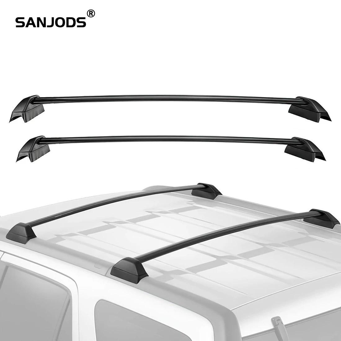 sanjods roof rack cross bar replacement for honda crv 2002 2003 2004 2005 2006 aluminum bolton top rail roof rack cargo carrier
