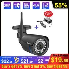 Techage 1080p 2mp sem fio câmera de visão noturna two way áudio tf cartão de gravação de vídeo câmera de segurança wi fi ao ar livre cctv vigilância