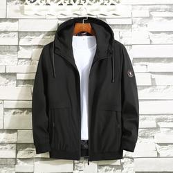 8xl 9xl 10xl 2019 Новая модная Осенняя мужская куртка, уличное повседневное пальто, ветровка, осенняя куртка с капюшоном, Одежда большого размера