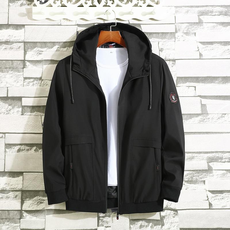 8xl 9xl 10xl 2019 New Fashion Autumn Men Jacket Outdoor Casual Coat Windbreaker Autumn Hooded Jacket Large Size Clothing
