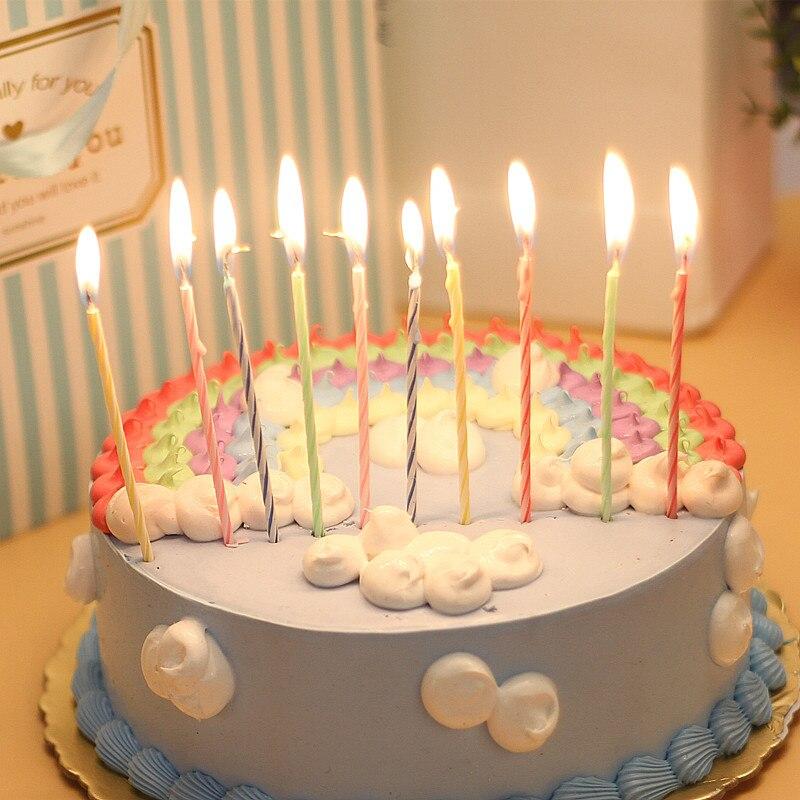 Wondrous 1Set10Pcs Relighting Birthday Candle Funny Magic Trick Cake Personalised Birthday Cards Arneslily Jamesorg