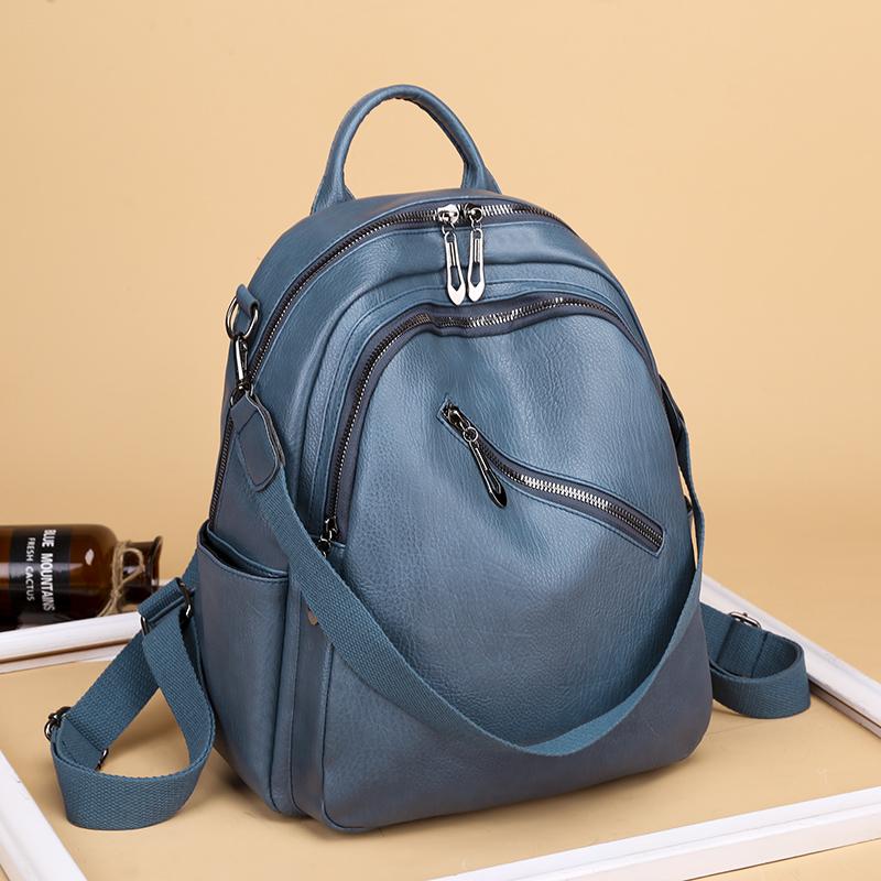 Women Backpack High Quality PU Leather Backpack for Teenage Girls School Bag large capacity Female shoulder bag Bagpack Mochila