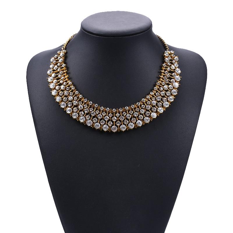 Женское колье-чокер с большим воротником, индийские ювелирные изделия, жемчужное ожерелье с кристаллами для женщин, 2020 ZA