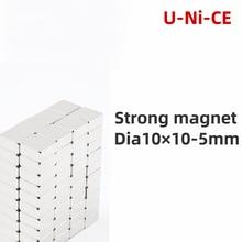 5/10/20pcs 10mm x 10mm x 5mm Super powerful rare earth block magnet NdFeB 10x10x5 neodymium N35 magnets 10 * 10 * 5 2pcs 60 x 20 x 10mm n52 block magnet super strong cuboid rare earth neodymium magnets 60mm x 20mm x 10mm magnet