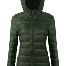 Women's Hooded Packable Down Jacket Ultra Light Weight Short