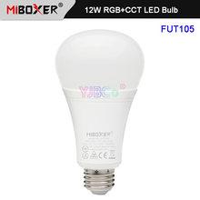 Miboxer e27 12 Вт rgb + cct светодиодный лампы fut105 ac110v