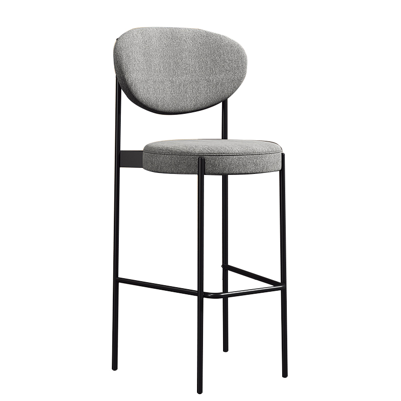 Nordic Iron Bar Chair Household High Chair Fashion Creative Net Red Chair Modern Simple Back Bar Chair