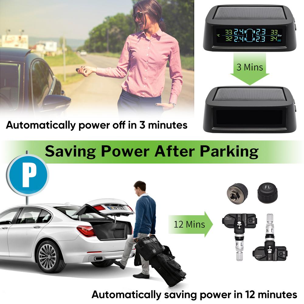 Image 4 - Deelife Solar TPMS Car Tire Pressure Monitoring System Alarm Auto Smart Control External Internal Wireless Tyre Pressure Sensor-in Tire Pressure Alarm from Automobiles & Motorcycles