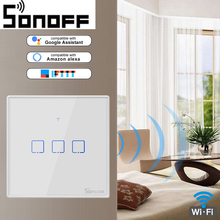 SONOFF WiFi Smart Switch With 3 Gang(EU & UK &US),Works With Amazon Alexa And Google Assistant ,Compatible With IFTTT Function