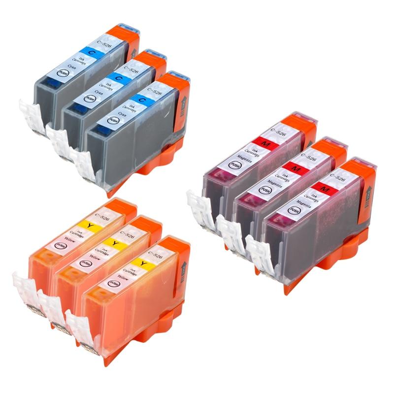 9 шт. PGI 525 CLI 526 чернильный картридж для принтера canon принтерам PIXMA IP4850 IP4950 IX6550 MG5150 MG5250 MG5350 MX715 MX885 MX895 принтер