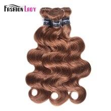Thời trang Nữ Trước Màu Bó Ấn Độ Tóc Dệt #30 Bodywave Tóc 1/3/4 Ốp lưng/ gói Không Remy Tóc