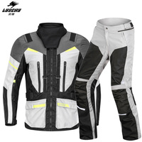LYSCHY Autumn Winter Cold proof Warm Motorcycle Jacket+Pants Motocross Suit Adventure Touring Clothing CE Protective Gear Sets