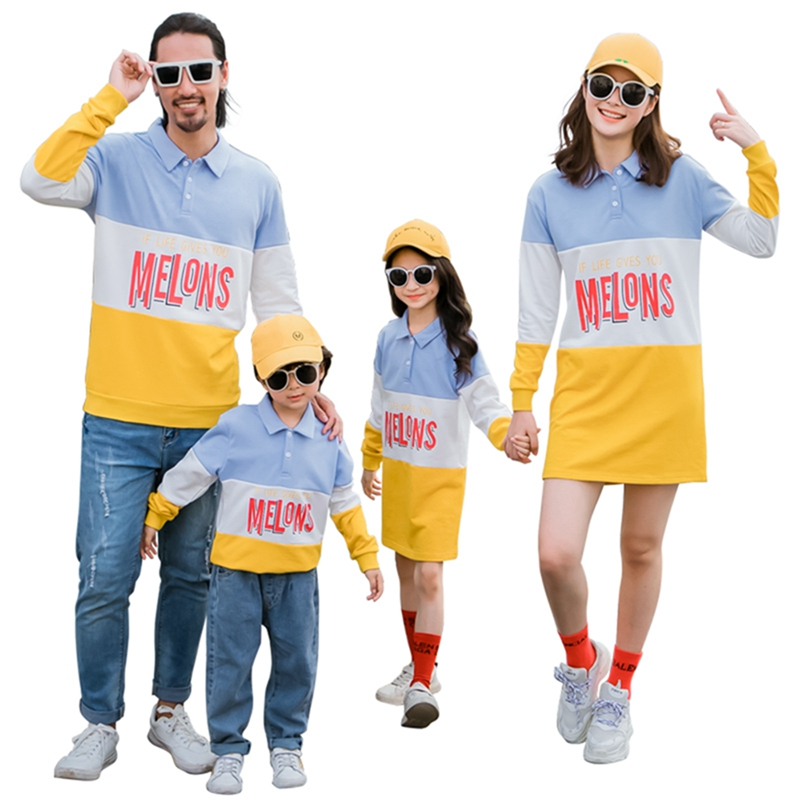 Family Matching Sweatshirt Autumn Winter Mom And Daughter Causal Dress Dad Son Sports Sweatshirts Family Matching Clothes