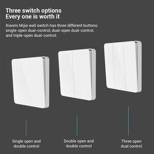 Image 4 - 2020 Xiaomi Mijia Wand Schalter Einzel Doppel dreibettzimmer Öffnen Dual Control Schalter 2 Modi Schalter Über Intelligente Lampe Lichter Schalter