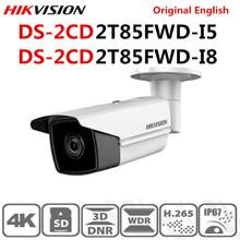 Hikvision מקורי אנגלית DS 2CD2T85FWD I8 DS 2CD2T85FWD I5 8MP (4 K) IR קבוע Bullet רשת מצלמה H.265 + POE IR טווח 50 m 80 m